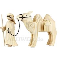 Kameltreiber und Kamel mit Eimern 13 cm natur