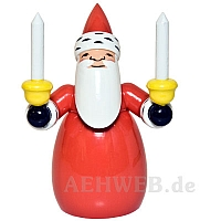 Santa Claus with candles