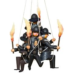 4 Bergleute am Seil