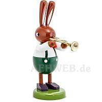 Großer Hase mit Trompete 16 cm