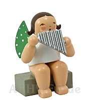 Angel with Pan Flute, sitting