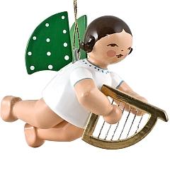 Engel mit kleiner Harfe, schwebend