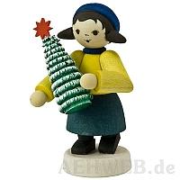 Geschenkemädchen mit Baum gebeizt