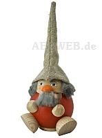 Räuchermann Waldzwerg, himbeerrot
