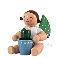 Engel mit blühendem Kaktus