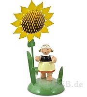 Tischkartenhalter Mädchen mit Sonnenblume