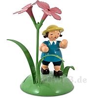 Tischkartenhalter Junge mit Nelke