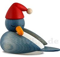 Weihnachtsmöve schlafend mit hellblauen Flügeln