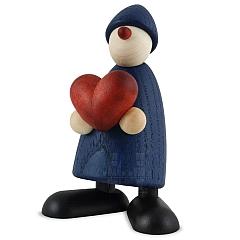 Gratulant Theo mit Herz blau