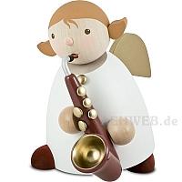 Schutzengel Größe 5 mit Saxophon rot