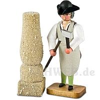 Steinmetz mit Säule