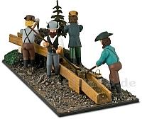 Diorama Goldwäscher mit 4 Figuren