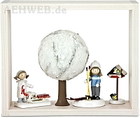 Schatzkästchen weiß mit Baum im Winter