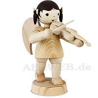 Schleifenengel mit Geige stehend natur