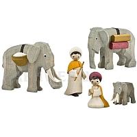Elefantentreiber gebeizt 7 cm Krippen
