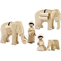 Elefantentreiber natur 7 cm Krippen