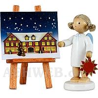 Engel mit Stern und Adventskalender