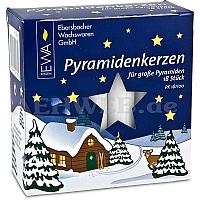 Pyramidenkerzen weiß Durchmesser 1,7 cm