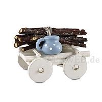 Handwagen mit Holzbündel