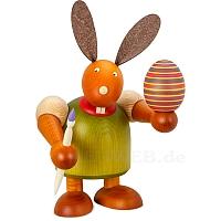 Maxi Hase mit Pinsel und Ei, grün