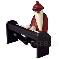 Weihnachtsmann am Piano schwarz