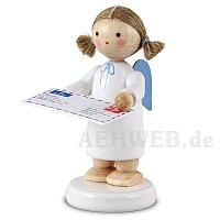 Engel mit Brief an den Weihnachtsmann