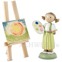 Malerin mit Staffelei