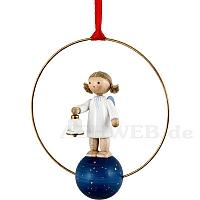 Weihnachtsschmuck Engel mit Glocke