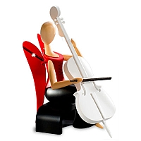 "Engel ""Laura Lindenholz"" mit Cello"