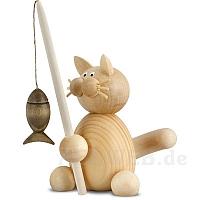 Katze Moritz mit Angel