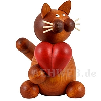 Katze Charlie mit Herz