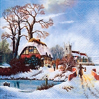 Serviette - Old Winter Town