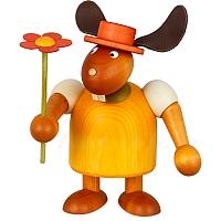 Hase mit Hut und Blume gelb, groß