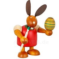 Maxi Hase mit Pinsel und Ei, rot