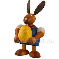 Maxi Hase mit Ei, blau