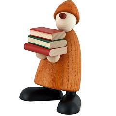 Gratulant Billy mit Büchern gelb