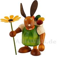 Maxi Hase mit Kiepe und Blume, grün
