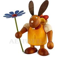 Maxi Hase mit Kiepe und Blume, gelb