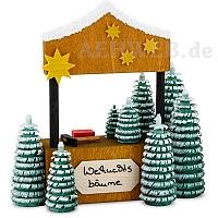 Weihnachtsbaumverkaufsstand, gebeizt
