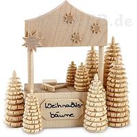 Weihnachtsbaumverkaufsstand, naturbelassen