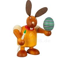 Maxi Hase mit Pinsel und Ei gelb