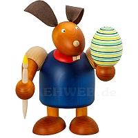 Maxi Hase mit Pinsel und Ei blau