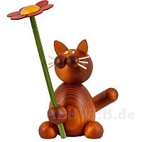 Katze Charlie mit Blume