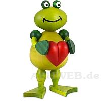 Frosch Freddy mit Herz