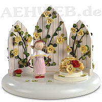 "Music box theme ""In the Rosegarden"" yellow"