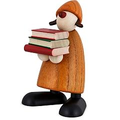Gratulant Lilly mit Büchern gelb