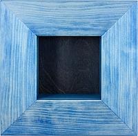 Wandrahmen blau lasiert