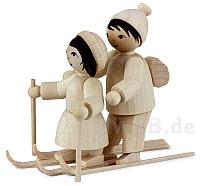 Skianfängerpaar naturbelassen