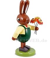 Hasen mit Blumenstrauß 8 cm