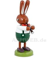 Großer Hase mit Klarinette 16 cm